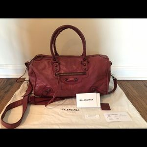 Balenciaga Leather handbag with crossbody strap